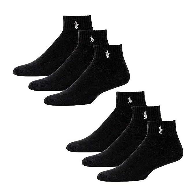 Polo Ralph Lauren – Juego de 6 pares de calcetines bajos, talla ...