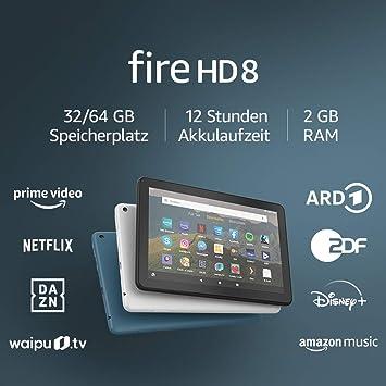Fire Hd 8 Tablet 8 Zoll Hd Display 32 Gb Schwarz Mit Werbung Für Unterhaltung Unterwegs Amazon Devices