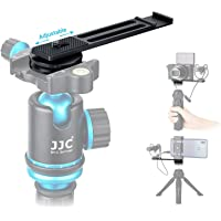 """JJC Metal Cold Shoe Extension Bracket Bar with Vlog Microphone LED Mount, Arca Swiss Type Plate Design and 1/4""""-20…"""