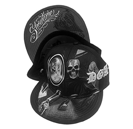 a4f7ac2f DGA Day of the Dead Lowrider Rockabilly Art Sublimation Men's Snapback Hat  - Showtime Skull