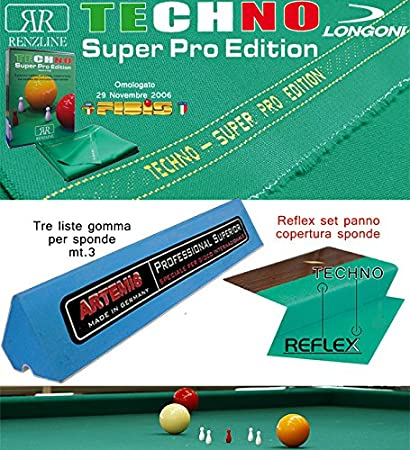 Longoni Techno Super Pro Edition. Kit Paño billar 5 Birilli ...