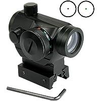 RioRand tactical Reflex Red Green Dot Sight Scope w/ Dual High / Low Profile Rail Mounts