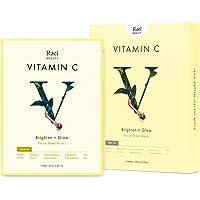 Rael Bamboo Face Sheet Mask - (Vitamin C, 5 Sheets) Real Natural Facial Mask With Vitamin C For Brightening Vita Bright