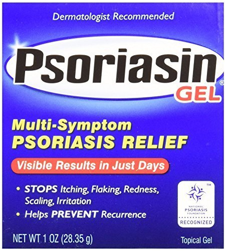 Psoriasin Multi-Symptom Psoriasis Relief Gel, 1 Ounce Tube (pack of 4) by Psoriasin