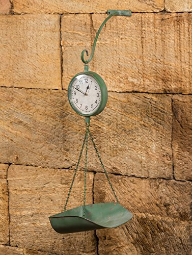 Vintage Green Produce Clock Scale With Hook