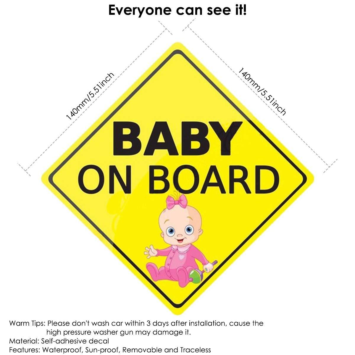 Baby On Board Auto Warnaufkleber Abziehbilder Wasserdichte Selbstklebende Auto Sicherheitszeichenaufkleber Pattern Baby Baby