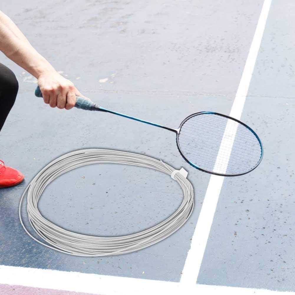 White Keen so 2 pcs Badminton Racket String 10m High Flexibility Badminton String Line Training Racket Racquet Lines Badminton Repair Accessory