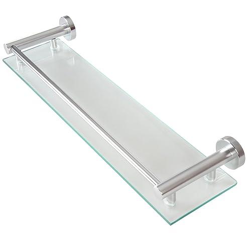 Wand Glasablage Badezimmerablage Ablage Wandablage Für Das Badezimmer Aus  Glas Und Aluminium