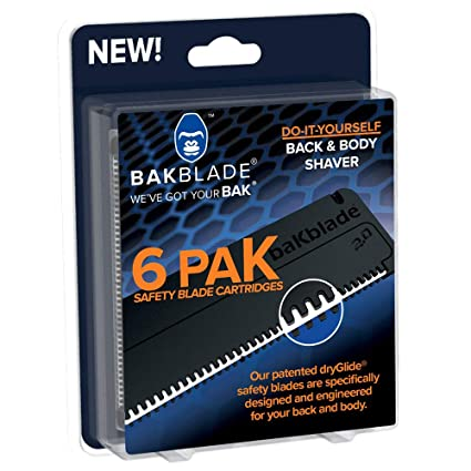 BaKblade 2.0 - Cuchillas de recambio - Juego de 6 cuchillas de seguridad - 9 cm