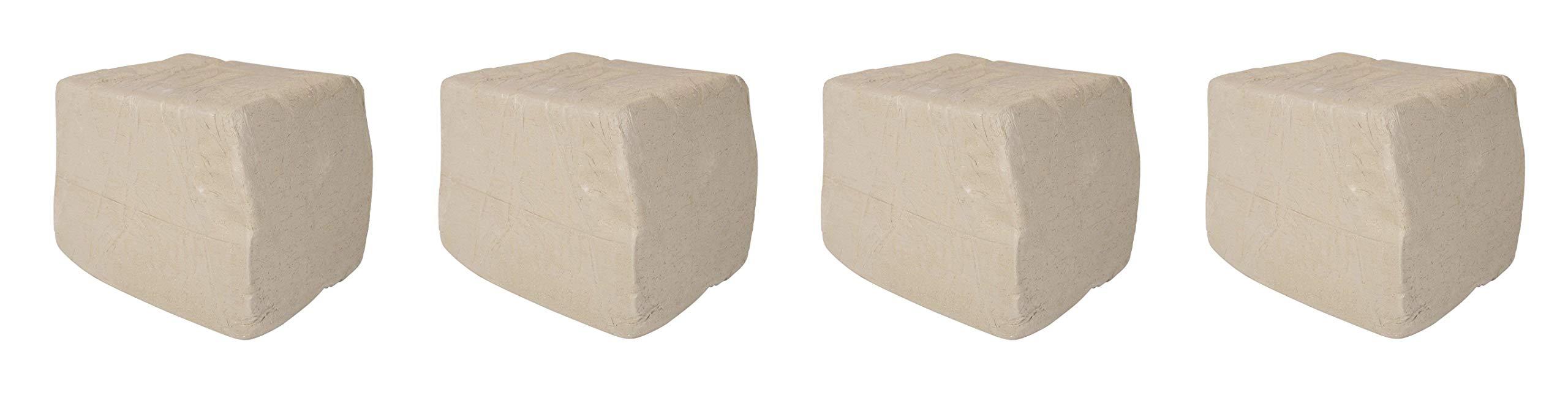 AMACO 351458 Low Fire Moist Sculpture Raku Clay, White, 27 (Pack of 4)