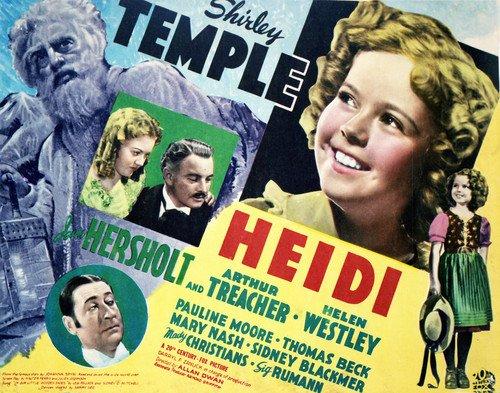 Heidi Featuring Shirley Temple, Jean Hersholt, Arthur Treacher 11x14 Promotional Photograph