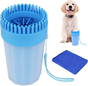AK KYC Dog Paw Washer Dog Paw Cleaner Pet Paw Cleaner for Dogs Large&Medium Silicone Pet(Puppy) Paw Cleaner & Grooming Brush Cup Quick Wash Muddy Paws Cup