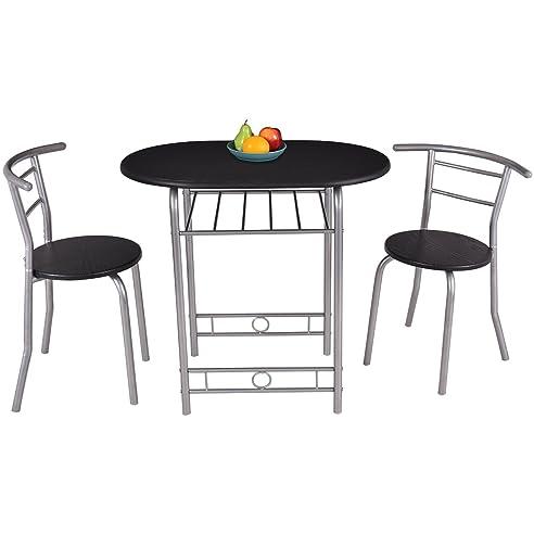 COSTWAY 3tlg. Küchenbar Sitzgruppe Essgruppe Balkonset Küchentisch ...