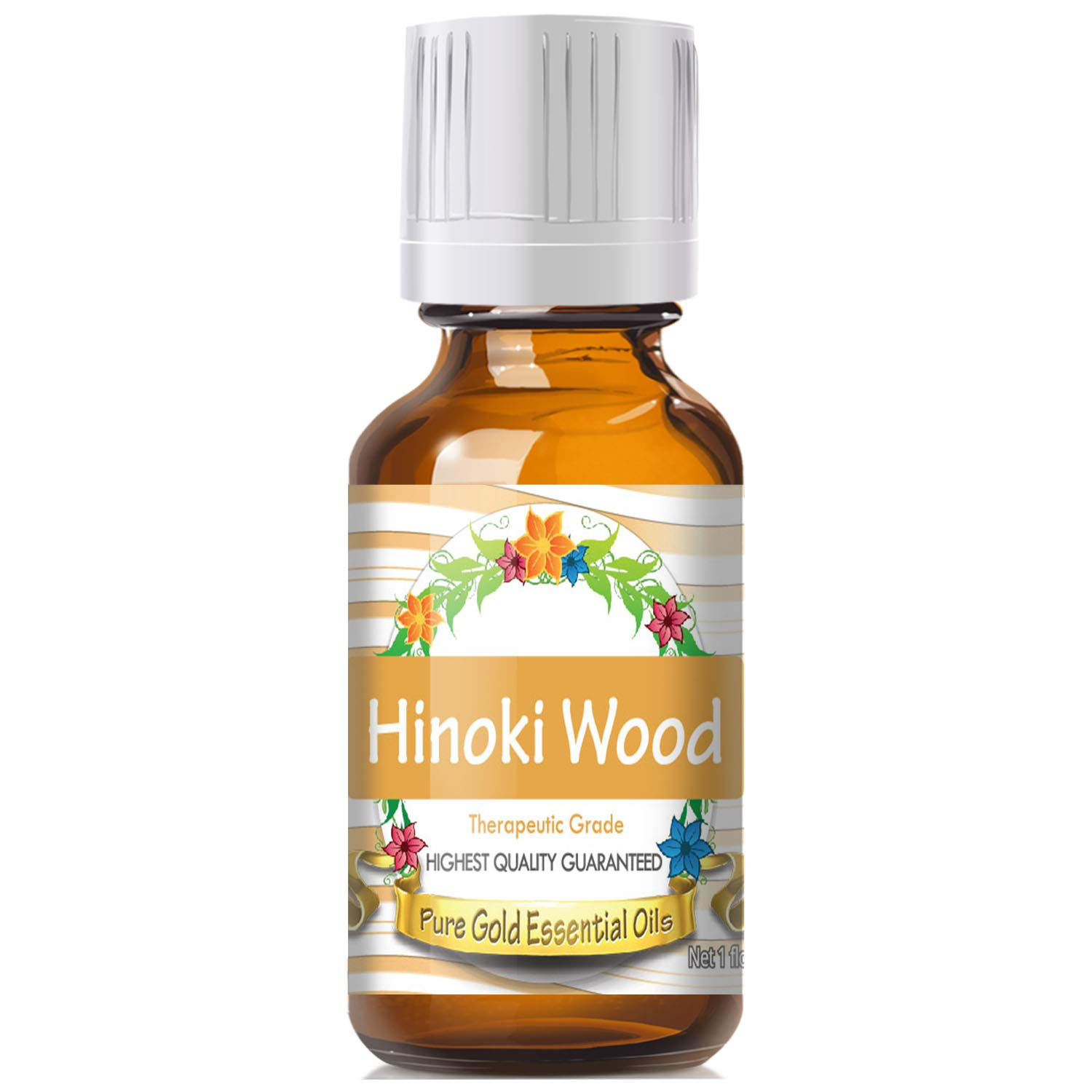 Pure Gold Hinoki Wood Essential Oil, 100% Natural & Undiluted, 30ml by Pure Gold