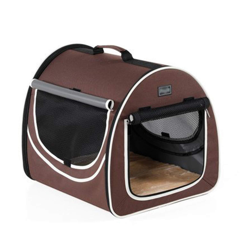 ペットハンドバッグ 犬用バックパック 夏用 多機能折りたたみ式猫バッグ 通気性 ポータブル 旅行 車 犬 猫 リットル ペット リッター ブラウン オックスフォード 424841Cm   B07H8TTZZP