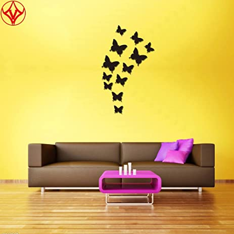 Amazon.com: 12 PCS Removable Crystal Acrylic 3D Mirror Butterfly ...