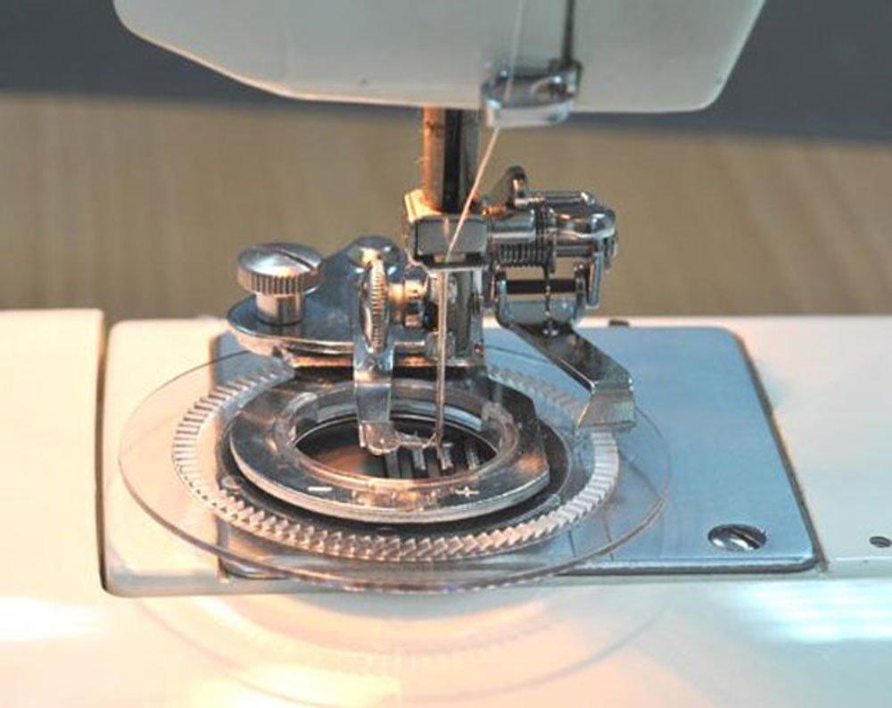 Presadora para coser flores con la máquina de coser, apta para todas las máquinas de coser con vástago de ajuste bajo, acero, Plateado, 12.7 x 11.9 x 5 cm: ...