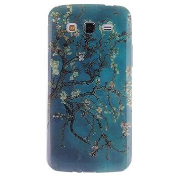 KATUMO® Carcasa Galaxy Grand 2, Funda Silicona Transparent Gel Bumper para Samsung Galaxy Grand 2 SM-G7106/G7102 /G7105 Carcasa Trasera Tapa ...