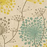 Irish Daisy Collins Dandelion Floral Cotton Shower Curtain