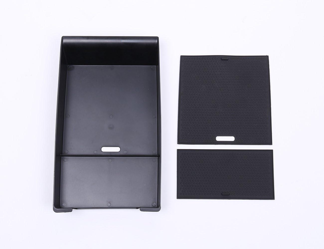 metyoucar Armlehne Aufbewahrungsbox Telefon Handschuh Tablett mit Matte Logo Zubeh/ör