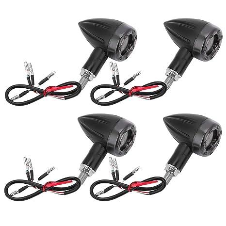 Amazon com: Aramox Motorcycle Turn Signal Light,4Pcs