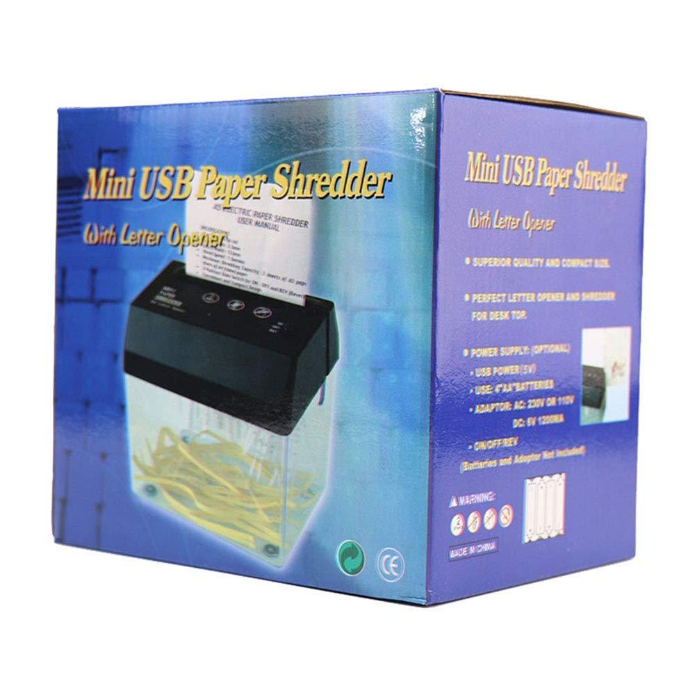Mini mini USB trituradora eléctrica A6 papel plegable Strip-Cut ...