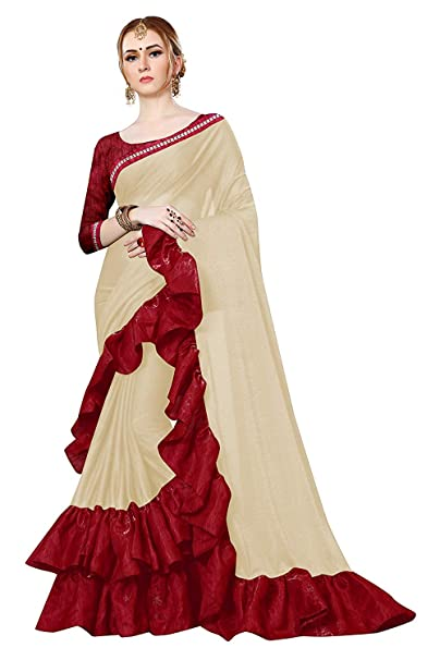 b53f1610a7 SPACE WALKERS Saree(Purvi FashionSaree For Women Party Wear Half Sarees  Offer Designer Below 500 Rupees ...