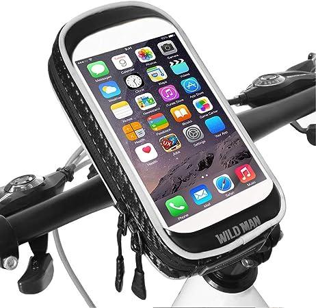 Alvin Yvonne - Soporte para teléfono móvil Impermeable con rotación de 360°, para Manillar de Bicicleta, Moto, Scooter, Smartphone, Apto para Smartphones de 6,6 Pulgadas: Amazon.es: Hogar