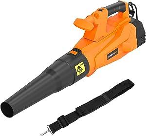 ENERTWIST Leaf Blower, 15-Amp Corded Electric Leaf Blower 137MPH 607CFM Variable Speed 8000~17000rpm w/ 1.2M Adjustable Shoulder Strap, 10Ft Power Cord, Cord Retention and Auxiliay Handle, ET-LB-1800