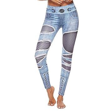 Ruikey Pantalones De Yoga Mujer 3D Mallas Deportivas Mujer ...