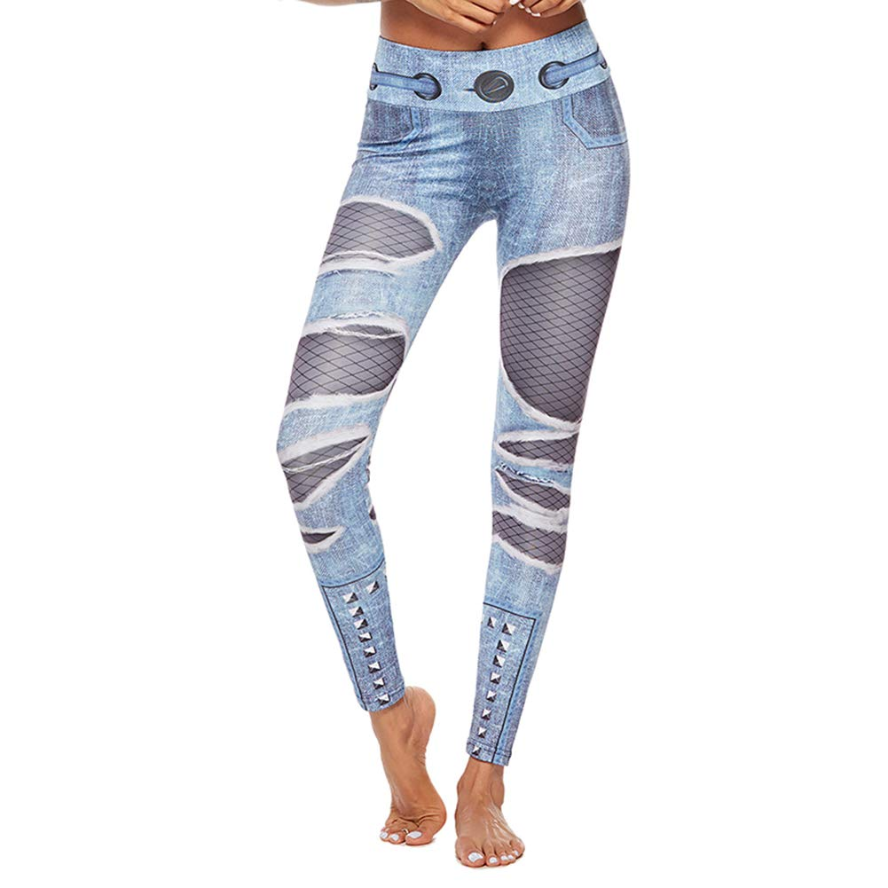 Leisial Pantalones de Yoga Leggings Mallas para Mujer ...