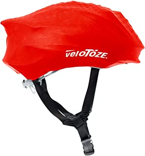 Velotoze Hel-Red-002 Couvre Casque Mixte Adulte, Rouge VELSL|#Velotoze