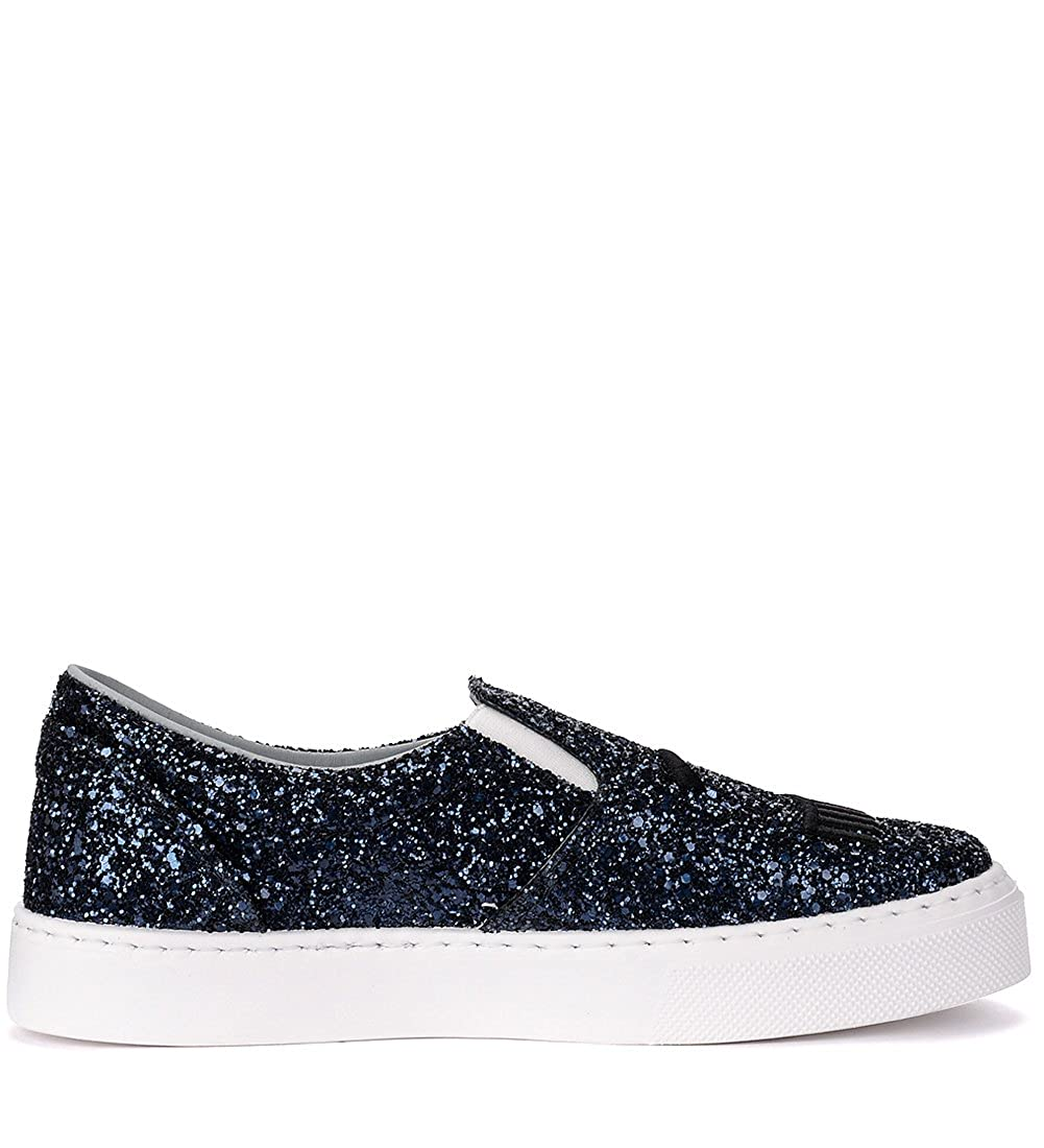 Chiara Ferragni Slip on Sneaker Flirting in Glitter Blau  Amazon.de  Schuhe    Handtaschen c456e9fd2e