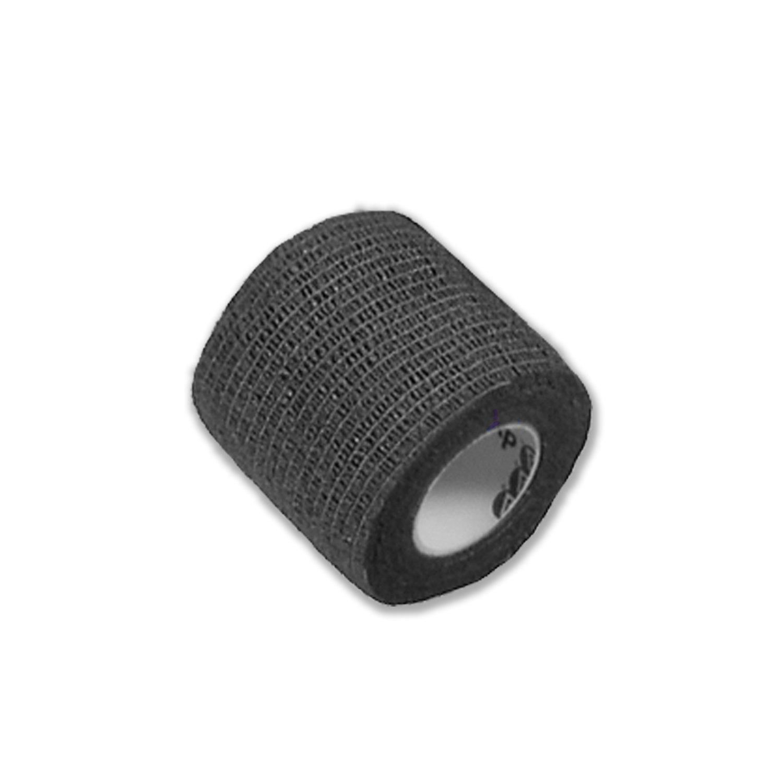 Dynarex Sensi-Wrap - Self-Adherent Compression Bandage Rolls - For Tattoo & Medical Use - 2.0'' x 5 yds - Black - 36 Count