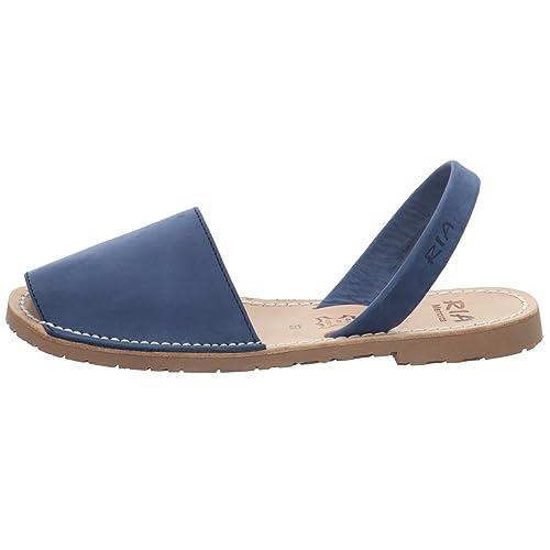ef95cd84 ria menorca - Sandalias de Vestir de Cuero para Mujer Azul Azul: Amazon.es:  Zapatos y complementos