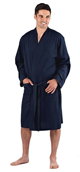 Mens Easy Care Cotton Jersey Summer Robe/Dressing Gown: Amazon.ca ...