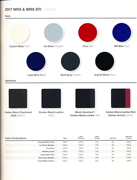 2017 Subaru WRX STI 22-page Original Car Sales Brochure Catalog
