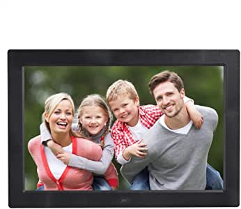 13 inch High-Definition Digital Photo Frame Electronic Photo Frame Showcase Display Video Advertising Machine Durable (Color : Black)