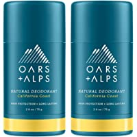 Oars + Alps Natural Deodorant for Men and Women, Aluminum Free and Alcohol Free, Vegan and Gluten Free, California Coast…