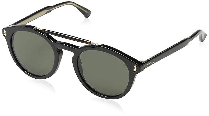 Amazon.com: anteojos de sol Gucci GG 0124 S- 001 negro/gris ...
