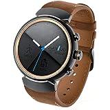 Kartice ASUS Zen Watch 3バンド ウォッチ交換バンド 本革ベルトレザー ASUS Zen用 crazy horse時計バンド 腕時計ストラップ セキュリティメタルバックル付きfor ASUS Zen Watch 3 (ブラウン)