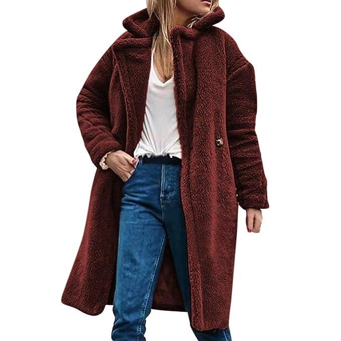 Linlink Liquidación Elegantes Abrigo Vestidos Mujeres Invierno cálido Informal Caliente Parka Chaqueta de Desgaste sólido Abrigo Coat Outercoat: Amazon.es: ...