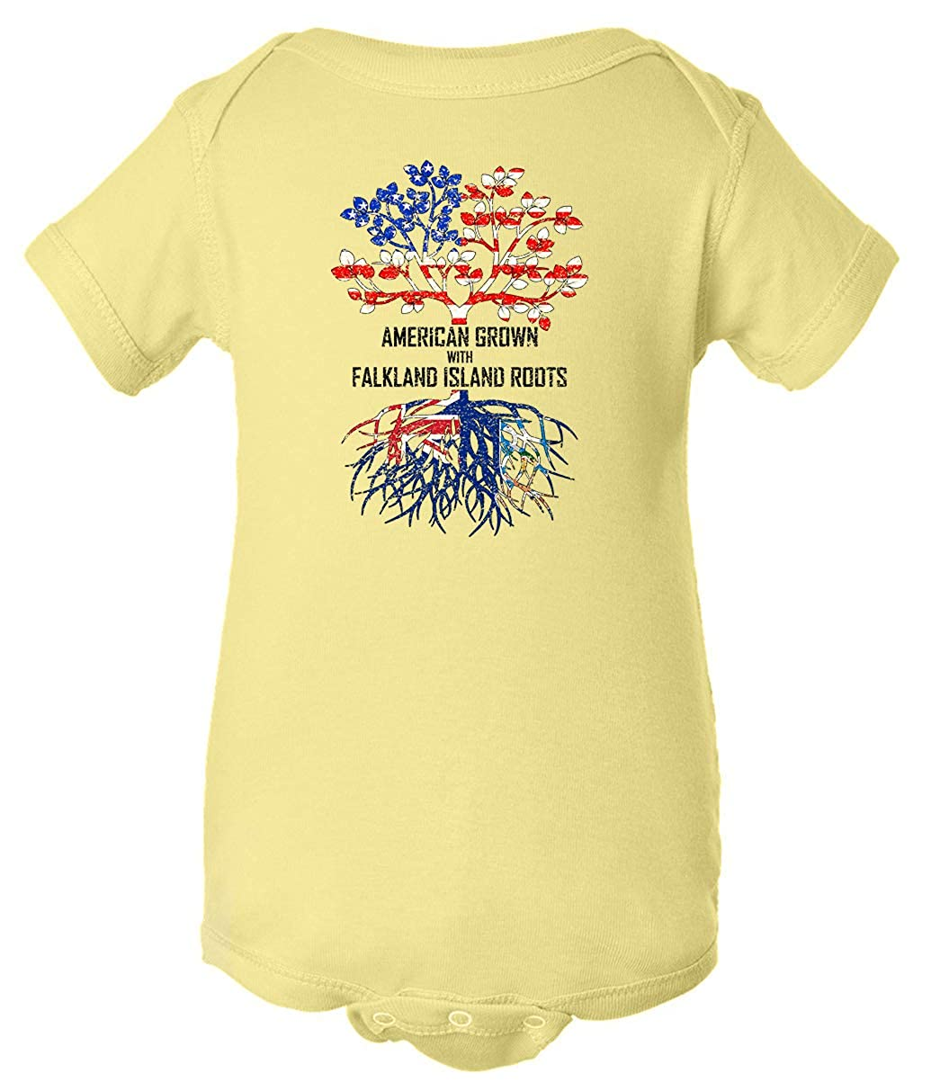Tenacitee Babys American Grown with Falkland Island Roots Shirt