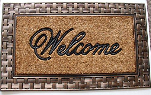 Geo Crafts Rubber Back Welcome Doormat, Bronze - Geo Door Mat