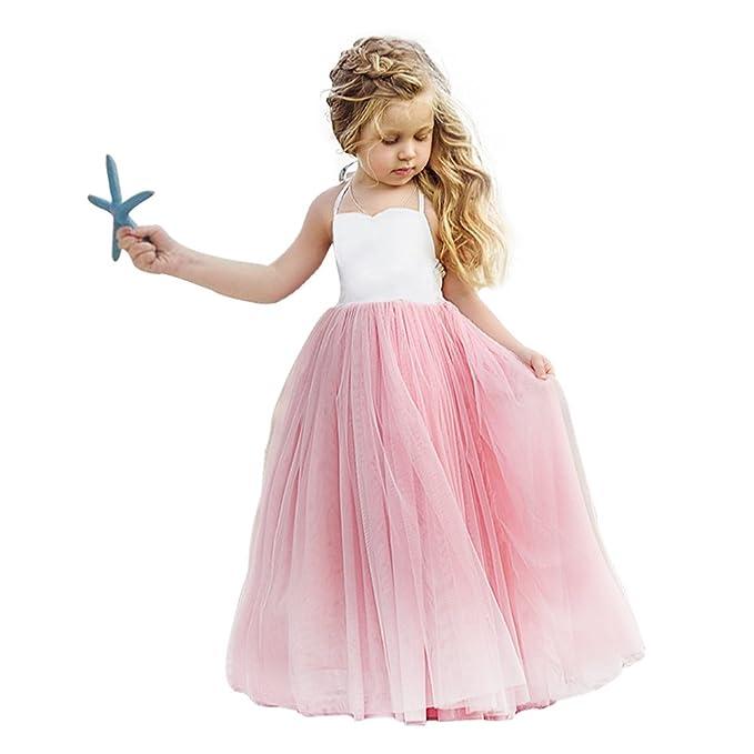 Vandot Niñas Princesa Dama de Honor Fiesta de Boda Vestido, Largo ...