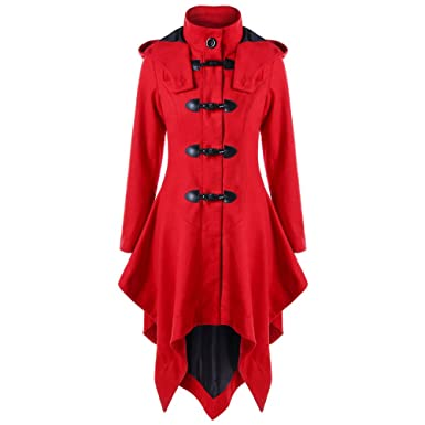 Camisas de Mujer Sudaderas de Lana Largo Irregular Abrigo Parka Cardigan Capa Chaqueta Outwear by Venmo