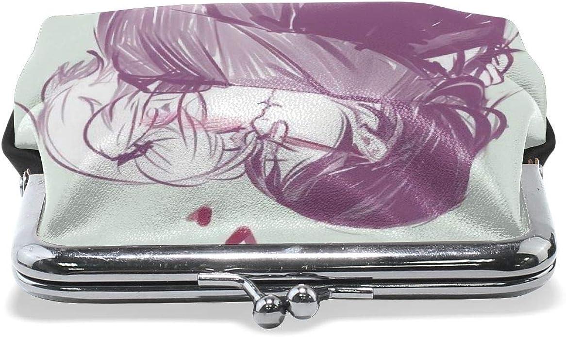 Women Lesbian Love Girl Pride Vintage Pouch Girl Kiss-lock Change Purse Wallets Buckle Leather Coin Purses Key Woman Printed