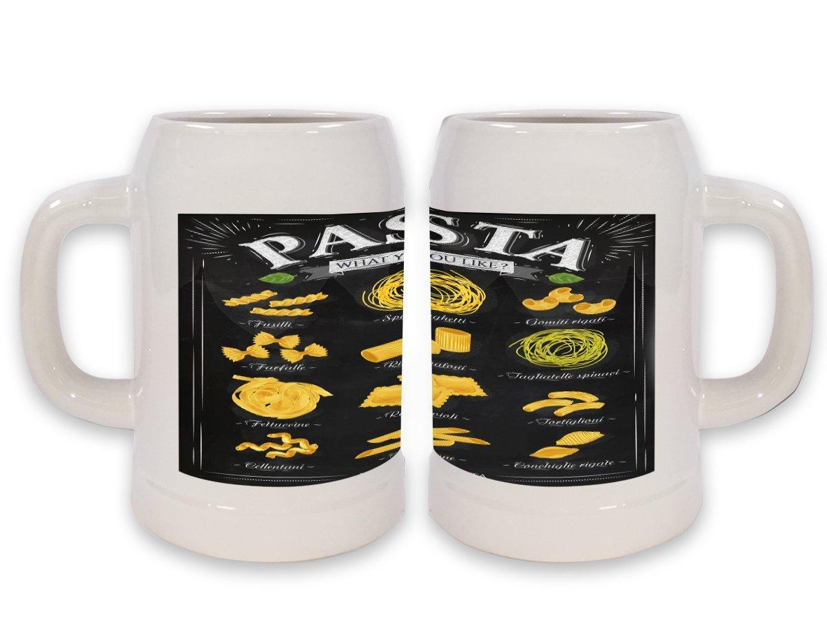 Jarra de Cerveza Cocina Pasta impreso