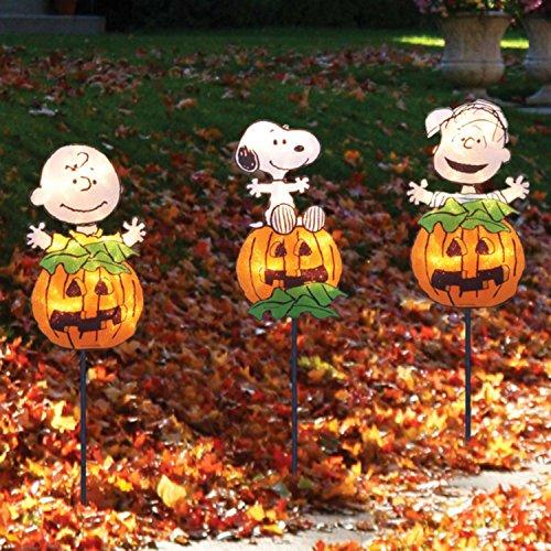 Great Pumpkin Lighted Gel Halloween Pathway Marker Stakes (Halloween Gel)
