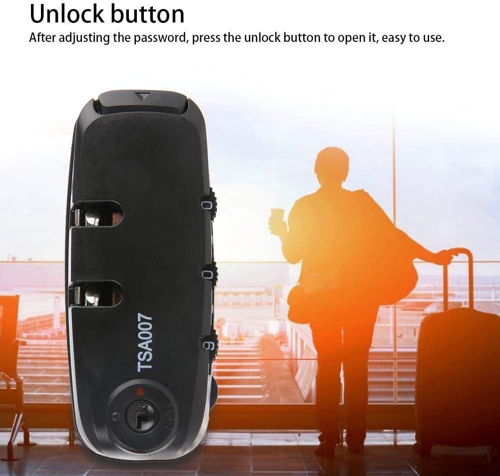Code Combination Travel Suitcase Security Password Lock Luggage Code Fixed Lock 3-Digit Security Lock Luggage Lock